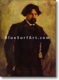 Portrait of the Artist Vasily Surikov - £124.99 : Canvas Art, Oil Painting Reproduction, Art Commission, Pop Art, Canvas Painting