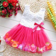 2017 nueva hembra del verano ropa de bebé hermoso arco de la perla de gasa sin mangas princesa dress girls dress ropa(China (Mainland))
