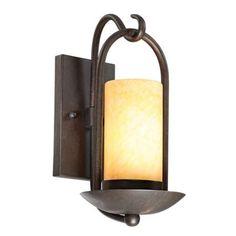 """Hallway Sconce Onyx Stone Faux Candle 15"""" High Espresso Finish, 60 watt bulb $130 each"""
