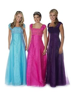 mormon prom dresses | Modest Prom Dresses « The Yellow Rose Bridal ...