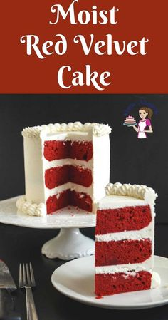 This red velvet cake has a classic sponge texture that's light and airy, moist cake with a tender crumb and deep red color in contrast to the white cream cheese frosting. This simple, easy and effortless recipe is a must-have recipe for anyone who loves to bake cakes whether you are a novice or a seasoned baker.