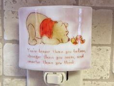 Winnie the Pooh night light  You are braver than by cheecheesglass