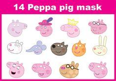 Instand DL  Peppa pig  Printable masks  14  masks photo by BB8jony