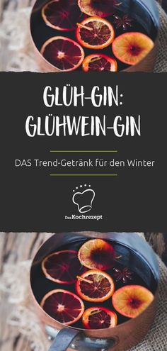 Glüh-Gin: der Glühwein-Gin Glow gin is THE trend drink for winter. Mulled wine, just with our favorite spirit: gin. What should not be missing in the Christmas hot drink … Glüh-Gin: der Glühwein-Gin Fancy Drinks, Cocktail Drinks, Yummy Drinks, Cocktail Recipes, Cheers, Le Gin, Gin Recipes, Winter Drinks, Mulled Wine