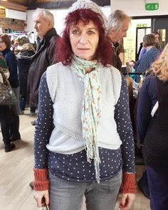 We love Gloria's style! She has made the Chelsea Waistcoat by Purl Alpaca Designs.