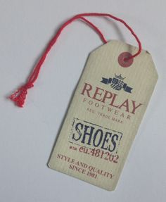 Replay shoes hang tag