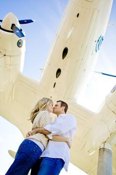 Aviation themed engagement shoot for a couple that likes to travel:)