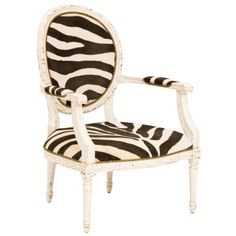 Sophie Lounge Chair: Zebra