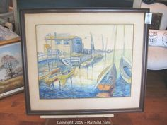 MaxSold - Auction: Oshawa  Downsizing Online Auction -  Watercolour sold for $1,000