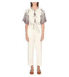 ULLA JOHNSON Alexi Cotton Jumpsuit. #ullajohnson #cloth #jumpsuits & playsuits