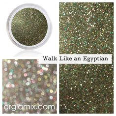 Glitter Pigment - Walk Like An Egyptian Glitter Facebook.com/orglamix 100% #natural, #eco makeup formulated with mineral power instead of petrochemicals. 250+ #colors in #shimmer, #sparkle, #duochrome, #twinkle, #glitter crafted in small batches + hand packaged with #love #vegan #PETA #love All #orglamix products are available at orglamix.com #mua #makeup #orglamix Fast + #affordable worldwide shipping. Click here to experience luxury mineral makeup difference; orglamix.com