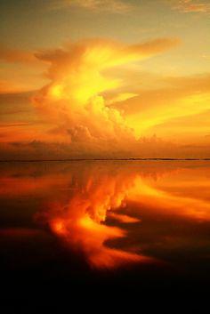 Sunrise over the Jaffna Lagoon ~ between Jaffna and Kayts Island in the Jaffna Peninsula, Sri Lanka.
