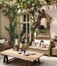 The Summer Months are here and many of you spend countless hours outdoors…so I thought you would enjoy a touch of Outdoor Spaces That Will Inspire You! In case you are thinking about creating a new atmosphere in your back yard or patio I think you will find some fun ideas that you can put …