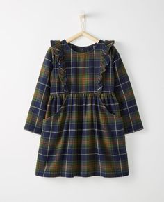 Forest Plaid Flannel Dress - Hanna Andersson