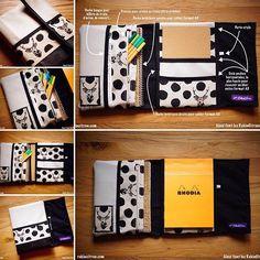 L'Organizer /Range-documents pour ton (petit ou grand) sac à main, une création originale en couture et son tuto, à découvrir sur rekincitron.com #rekincitron #couture #creation #organiseur #organizer #tuto