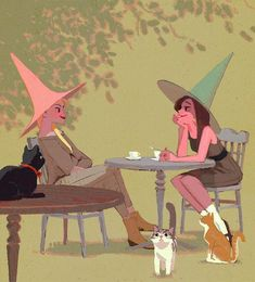 Witch chat and cats