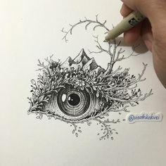 Doodle art 417708934182136460 - Les Croquis bluffants de Visoth Kakvei Source by meggiegerrr Dibujos Zentangle Art, Zentangle Drawings, Zentangles, Inspiration Art, Art Inspo, Doodle Art, Pencil Drawings, Art Drawings, Stylo Art