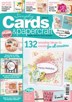 Simply Cards & Papercraft 133 with a FREE Clearly Besotted stamp set: http://www.moremags.com/papercrafts/simply-cards-papercraft/issue133-simply-cards-papercraft