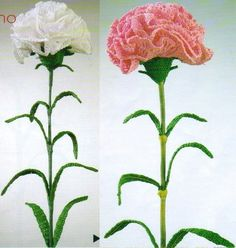 Carnations with diagram, these where the first flowers I learned to make wow - Carnations con diagrama, estas fueron las primeras flores que aprendi a hacer