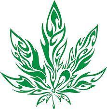 POT LEAF DECAL WALL ART MARIJUANA WEED CANNABIS RASTA 420 HIPPIE STICKER