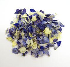 Something Blue - Purple, Azure Blue and Ivory Delphiniums.