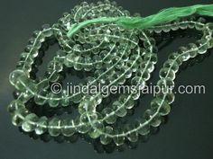 Green Amethyst Gemstone Beads