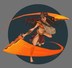 """Ynaguiguinid - goddess of war (diwata ng digmaan), and mother of the protagonist """"malaya / simeon"""" in the Filipino epic series """"Indio"""" I don't know if I could make another fan art of this series. Philippine Mythology, Philippine Art, Celtic Mythology, Filipino Art, Filipino Culture, Character Inspiration, Character Art, Character Design, Mythological Creatures"""