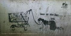 Beogradski grafiti.: Shut Up and Buy / TKV #Beograd #Belgrade #Graffiti #Grafiti #StreetArt
