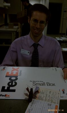 Mailing Myself to Fiji at the FedEx office!