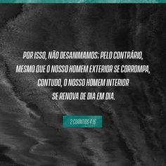 2 Coríntios 4:16