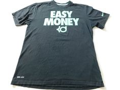 Nike Kevin Durant KD Mens T Shirt Size Medium Easy Money basketball Athletic  #Nike #ShirtsTops