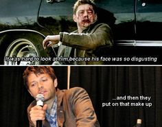 Misha Collins talks about Jensen in 5x22 Swan Song at convention panel. Ew I hated his face for the first time ever.