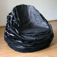 37 layers of paper and cardboard to make  Chair Black Paper 37  | Click through for the full post!
