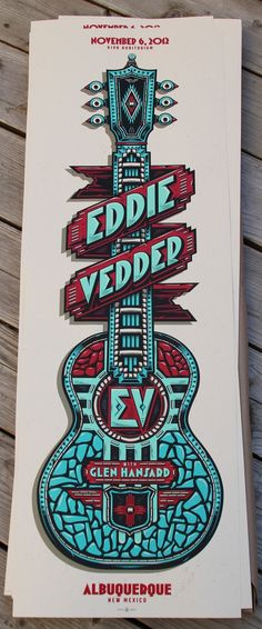 Eddie Vedder's Albuquerque Poster by Studio Mark 5
