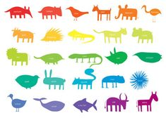 Animal Outline Ideas for Texture Project