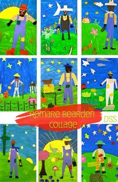 Ideas For Black History Month Art Romare Bearden Art Lessons For Kids, Artists For Kids, Art Lessons Elementary, Art For Kids, Deep Space Sparkle, History For Kids, Art History, Romare Bearden, 4th Grade Art