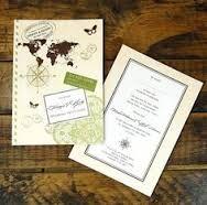 vintage travel themed wedding invitations - Google Search