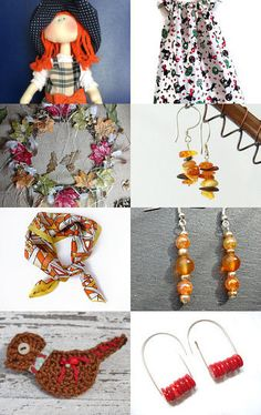 Orange Autumn by @branchbeads  by Sarah Robertshaw on Etsy--Pinned with TreasuryPin.com
