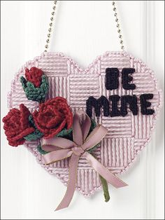 Be Mine Door Hanger - Plastic Canvas  ePatternsCentral