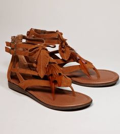 Minnetonka Skye Feather Gladiator