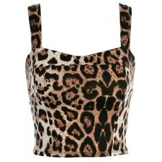 KRISP Animal Print Bow Back Cropped Top ($20) ❤ liked on Polyvore