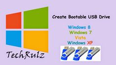 How to create windows 8/7/xp/vista bootable usb - complete guide.