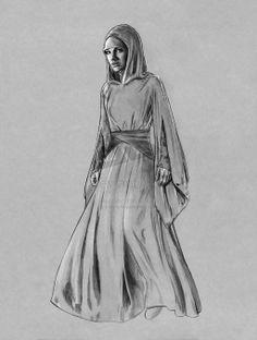 Padme -Handmaiden Flamegown by jasonpal.deviantart.com on @deviantART