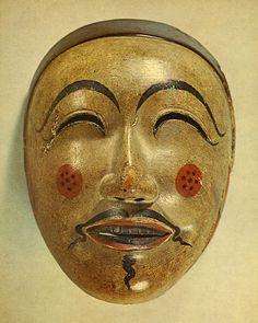 "A mask of Japanese Bugaku. ""shin-toriso"". 1185. Heian era."