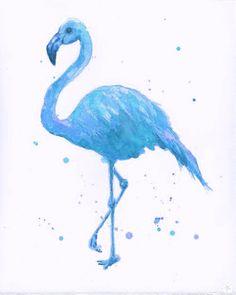 Blue Flamingo. Love him.   http://theglitterguide.tumblr.com