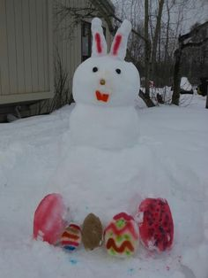 Easter Snow Bunny