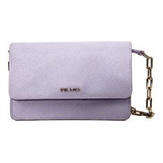 Pre-Owned Lavender Saffiano Crossbody Purse ($840) ❤ liked on Polyvore featuring bags, handbags, shoulder bags, purses, purple, man bag, shoulder strap handbags, prada handbags, crossbody purse and prada crossbody