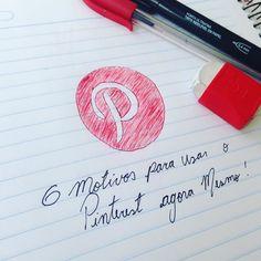 Já conhece o Pinterest? Não?? Então clica lá no link da bio e descubra 6 bons motivos para usar a rede social mais inspiradora do mundo! . . . . . . . . . . . #instabgs #blogsdaliga #instasqd #pinterest #redesocial #drawing #inspiração #fabercastell #papermate #notebook