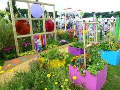 colourful sensory garden