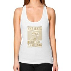 Never underestimate the power of a Boxer Owner Women's Racerback Tank